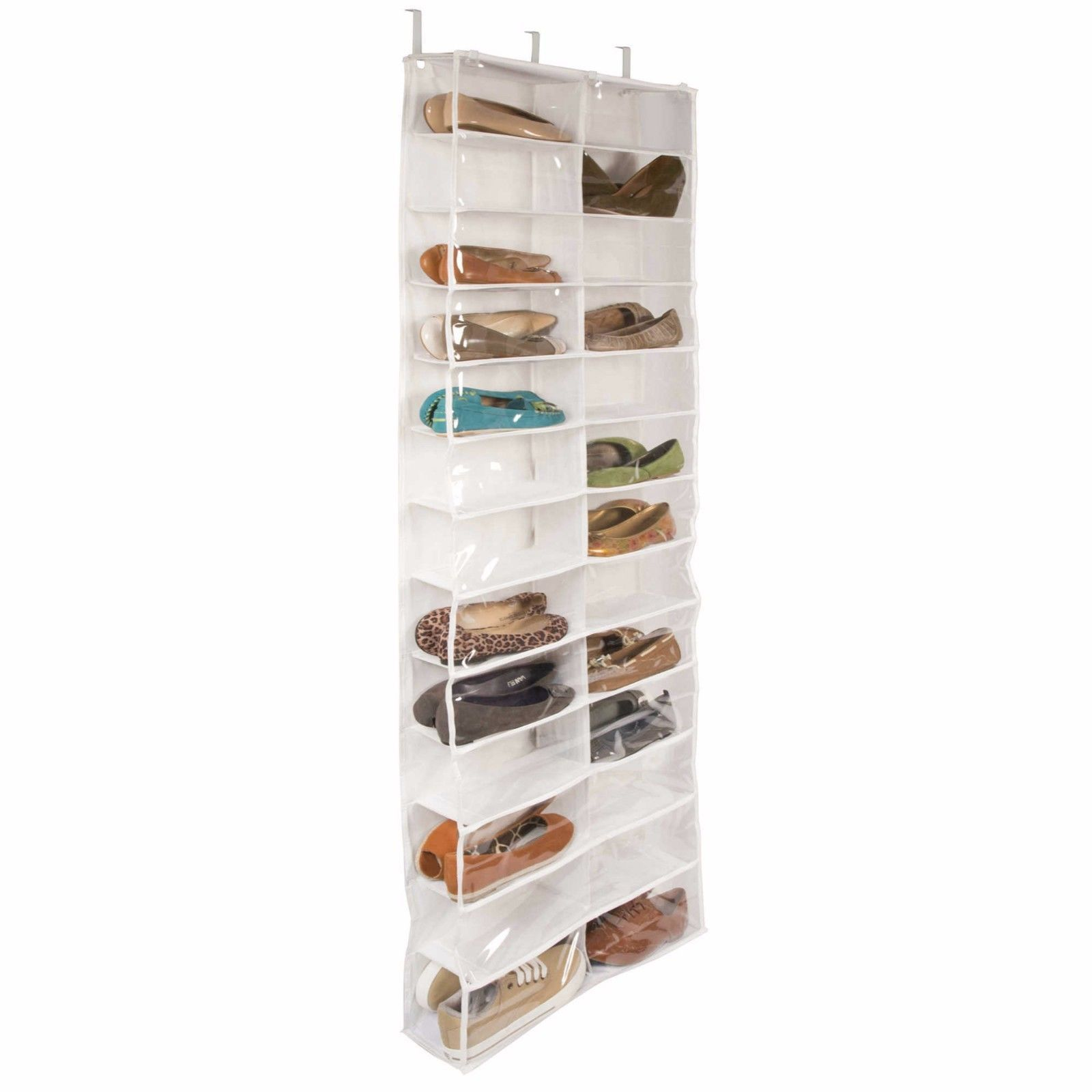 26 Pocket Over The Door Shoe Organizer Rack Hanging Storage