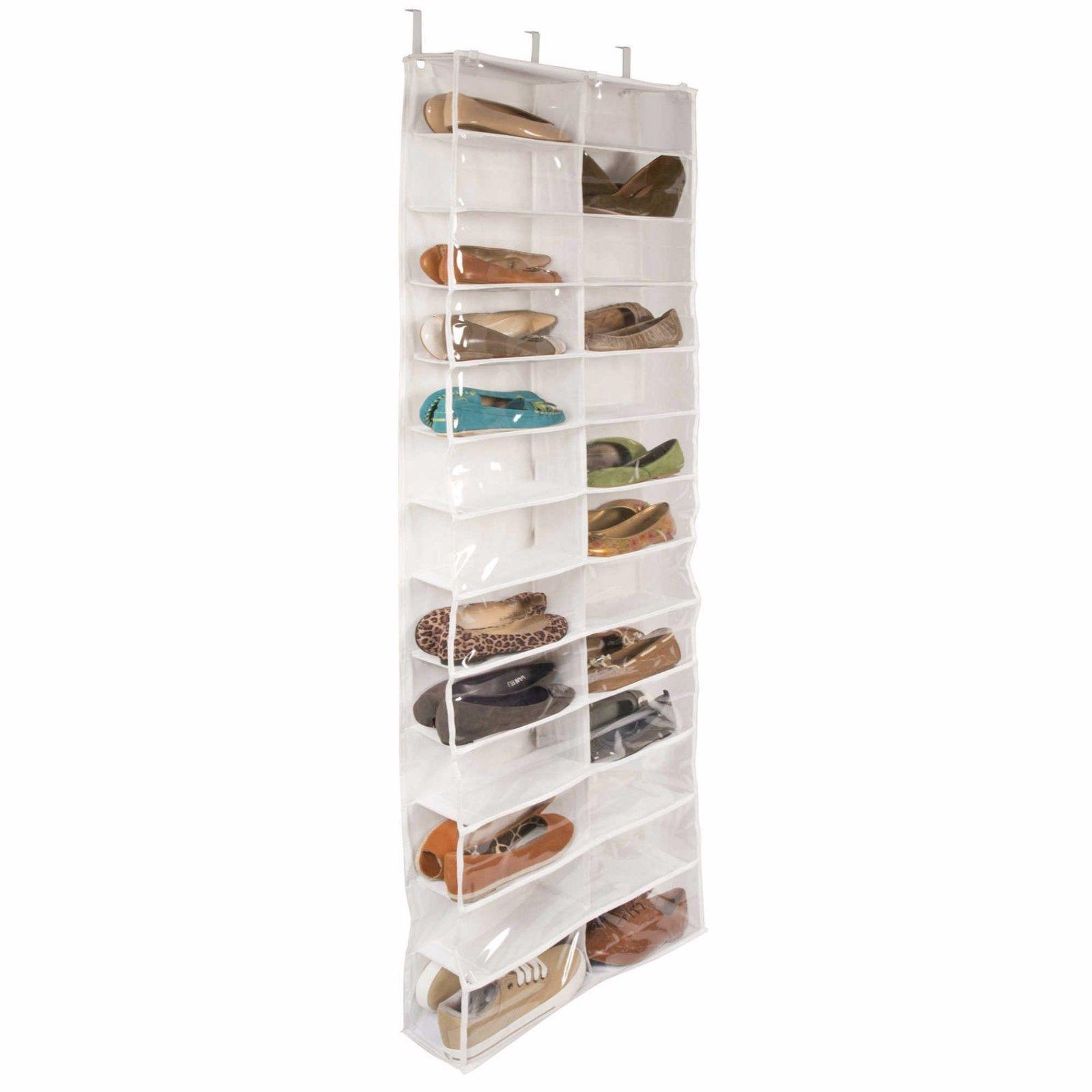 26 Pocket Over The Door Shoe Organizer Rack Hanging Storage