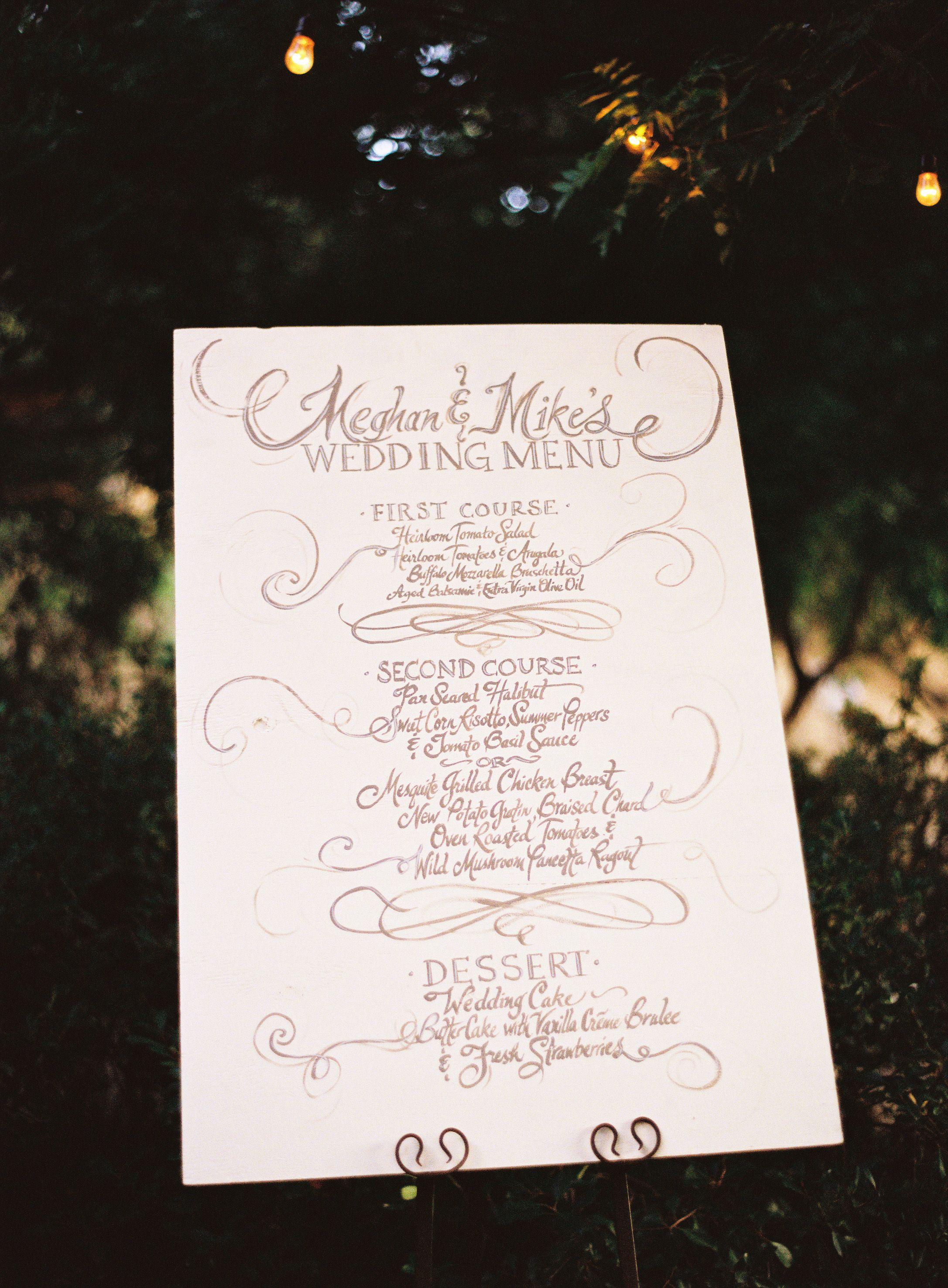 Wedding Menu Wedding Pinterest Wedding Menu Wedding And Wedding