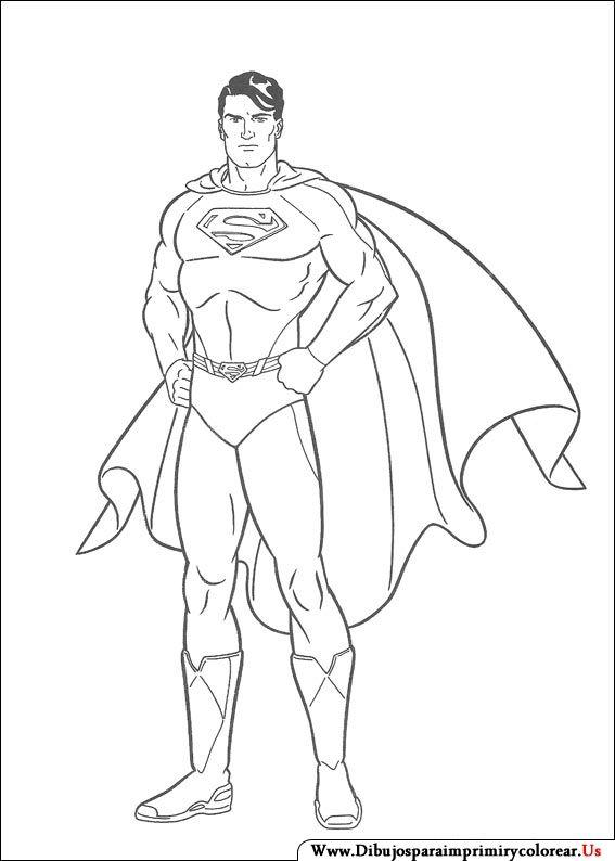 Dibujos de Superman para Imprimir y Colorear | Manualidades
