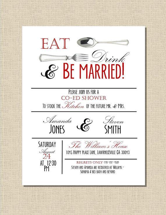 Custom Printable Kitchen Bridal Shower Invitation Diy