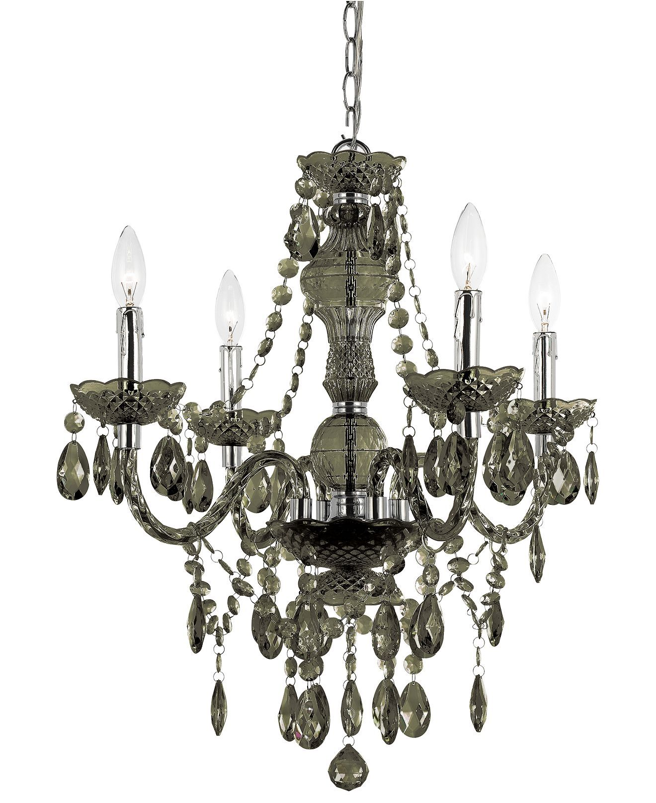 Elements chandelier light mini in black lighting u lamps for