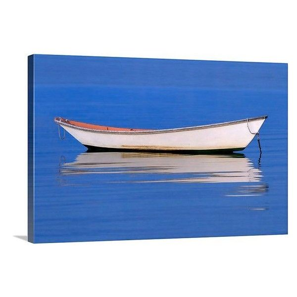 Nautical Decor Boat Photo Large Canvas Wall Art Rowboat Liked On Polyvore Featuring Home Home De Large Canvas Wall Art Canvas Photo Wall Boat Wall Art