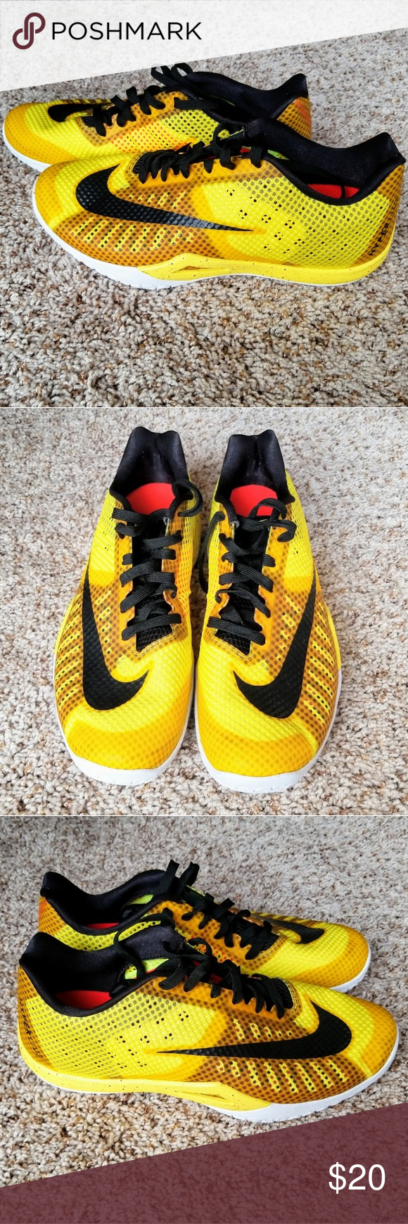 neon yellow nike tennis shoes cool basketball shoes