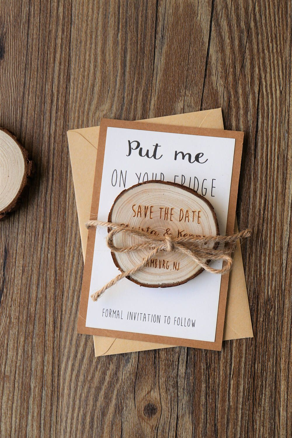 Wooden SavetheDate Wedding Save the date
