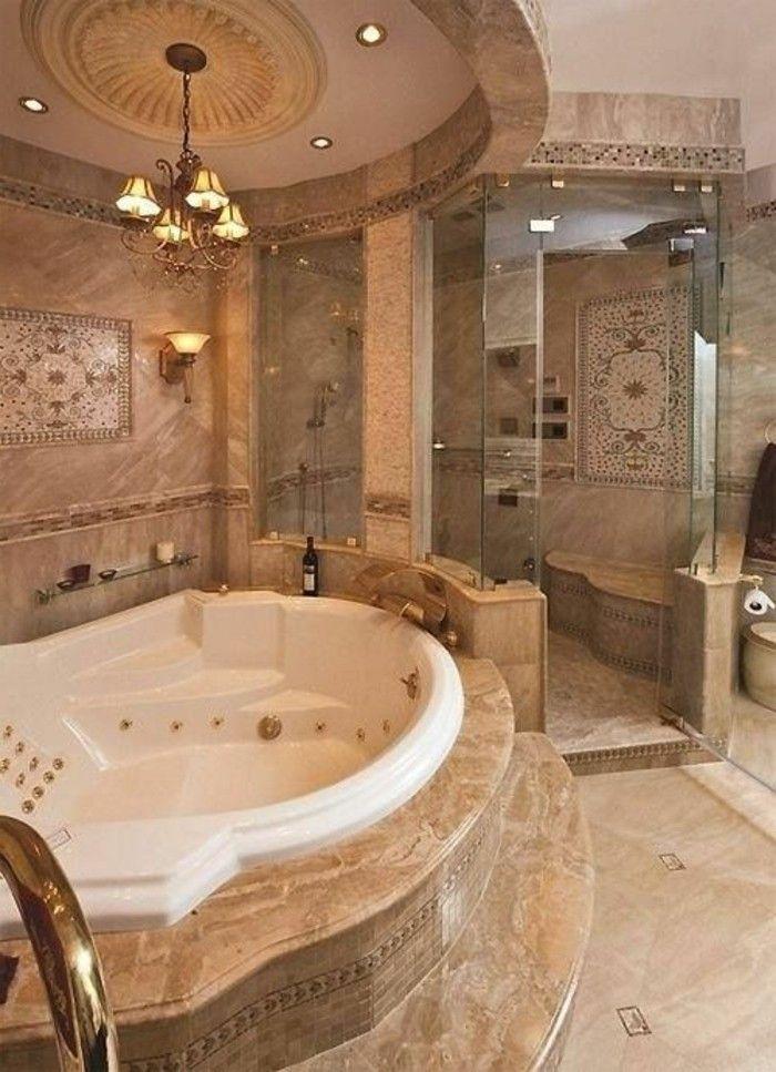 badezimmer deko badgestaltung in hellbraun modern badewanne - badezimmer design badgestaltung