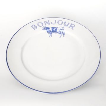 Add some country charm to your kitchen with the Bonjour Blue Cow Dinner Plate and matching dinner set. #Kirklands #farmhouse  sc 1 st  Pinterest & Bonjour Blue Cow Dinner Plate | Country charm Dinner sets and Kitchens