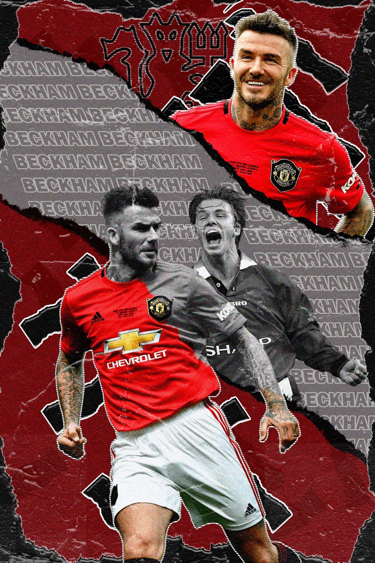 David Beckham Manchester United In 2020 David Beckham Manchester United Manchester United Wallpaper Manchester United Fans