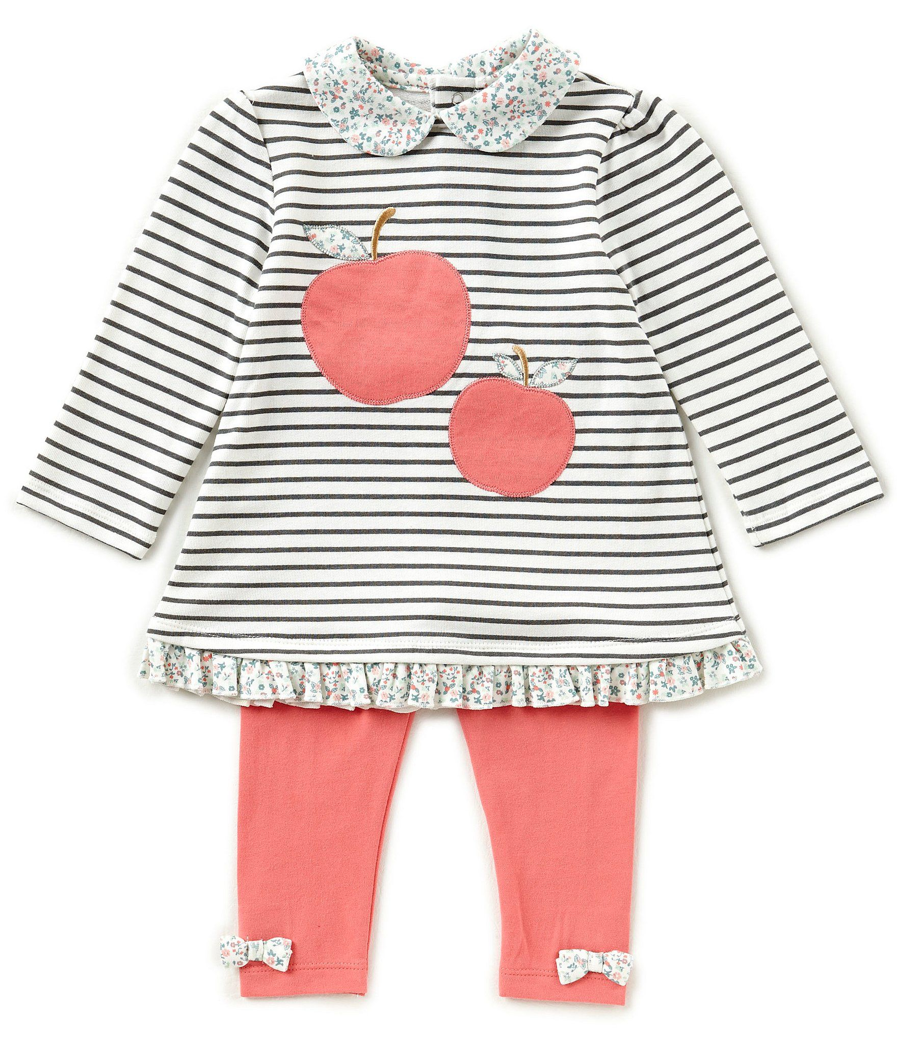 Starting Out Baby Girls 1224 Months Striped Apple Top and Leggings