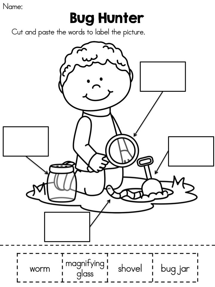 Spring Kindergarten Language Arts Worksheets | Insekten und Kind