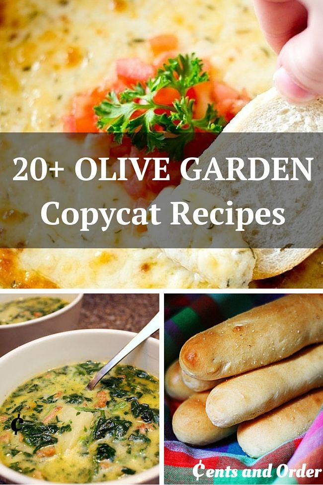 20 Olive Garden Copycat Recipes Restaurant Recipes Olive Gardens And Copycat Recipes