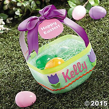 Do it yourself easter baskets are easy to make with just a few craft do it yourself easter baskets are easy to make with just a few craft supplies and solutioingenieria Images