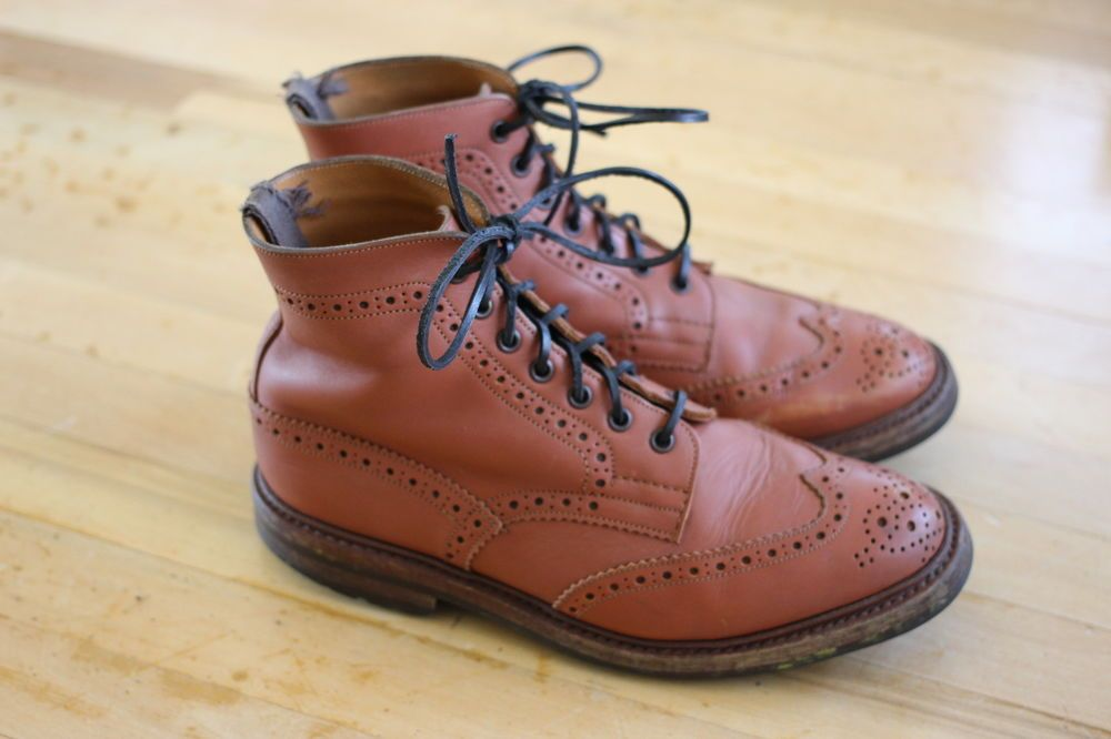 4bea839263152 Trickers of England Malton Tan Brogue Country Boots Wingtip UK Sz. 8.5  #Menswear #Trickers #AnkleBoots