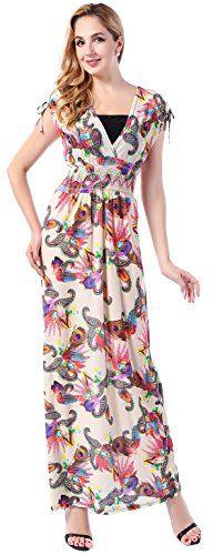 MarysGift Womens Plus Size Floral Long Maxi Evening Dress US 26