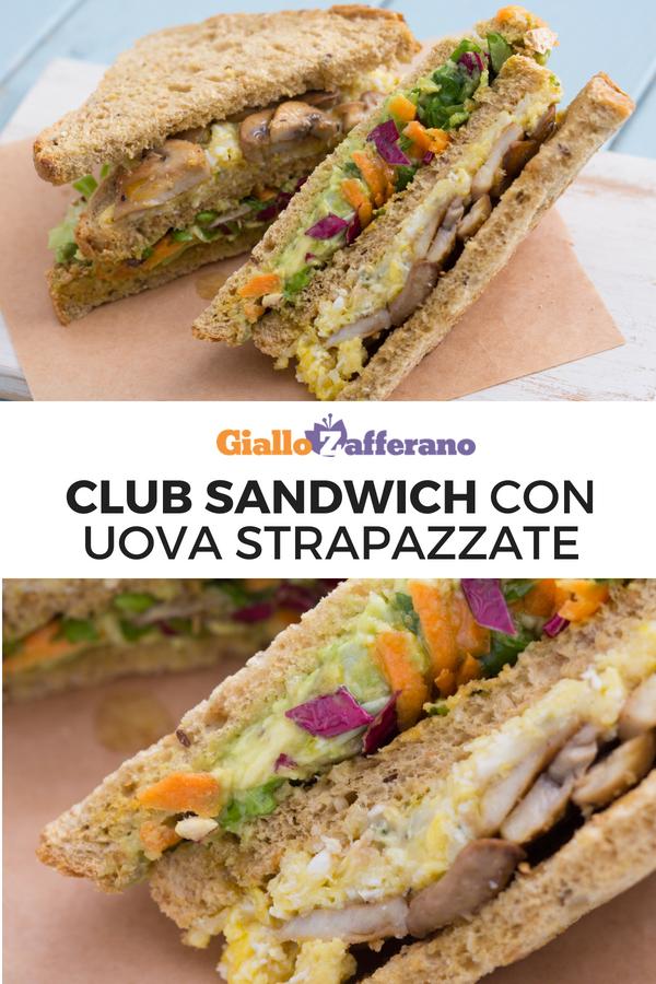 Ricetta Per Uova Strapazzate Giallozafferano.Club Sandwich Con Uova Strapazzate Ricetta Ricette Idee Alimentari Club Sandwich