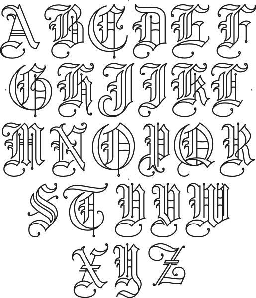 """, Sachin Shah on Instagram: """"Very often I am asked for an exemplar of my Gothic variation. Here's a qu – The old english latin alphabet —though it h…, My Tattoo Blog 2020, My Tattoo Blog 2020"""