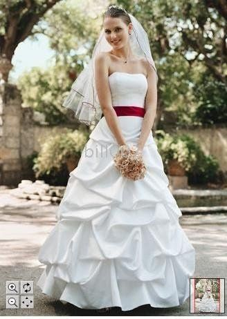 Wedding Dresses with Red Accents Promotion Shop for Promotional ...
