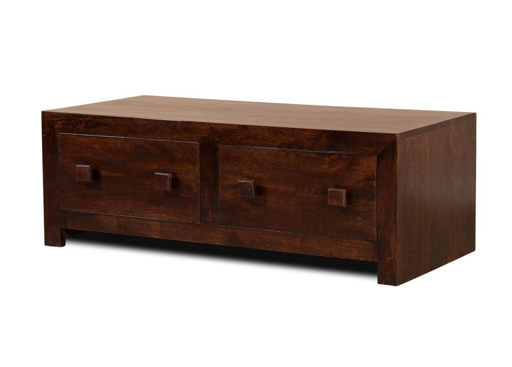 Dakota dark mango 4drawer coffee table 4 drawer coffee