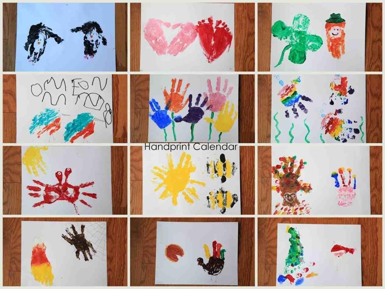 Handprint Calendar Template Free Tamplate Pinterest