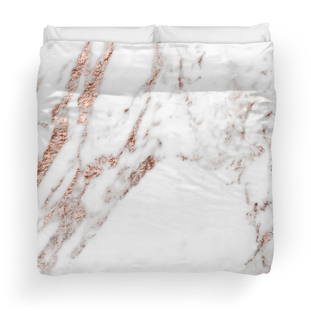 Rose Gold Vein Marble Duvet Cover Rose Gold Whimsy