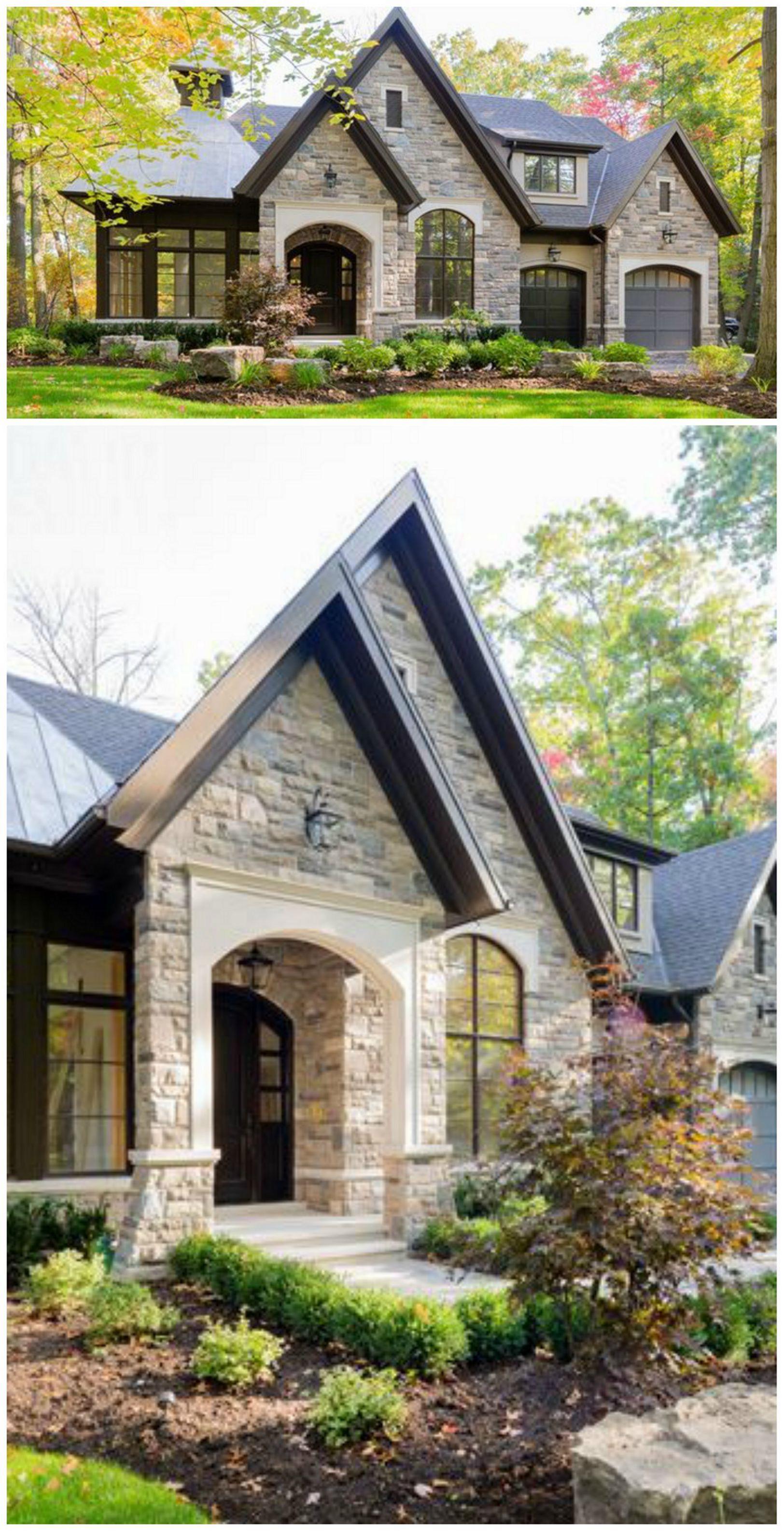 25 Beautiful Stone House Design Ideas On A Budget Small House Exteriors House Exterior Exterior Design