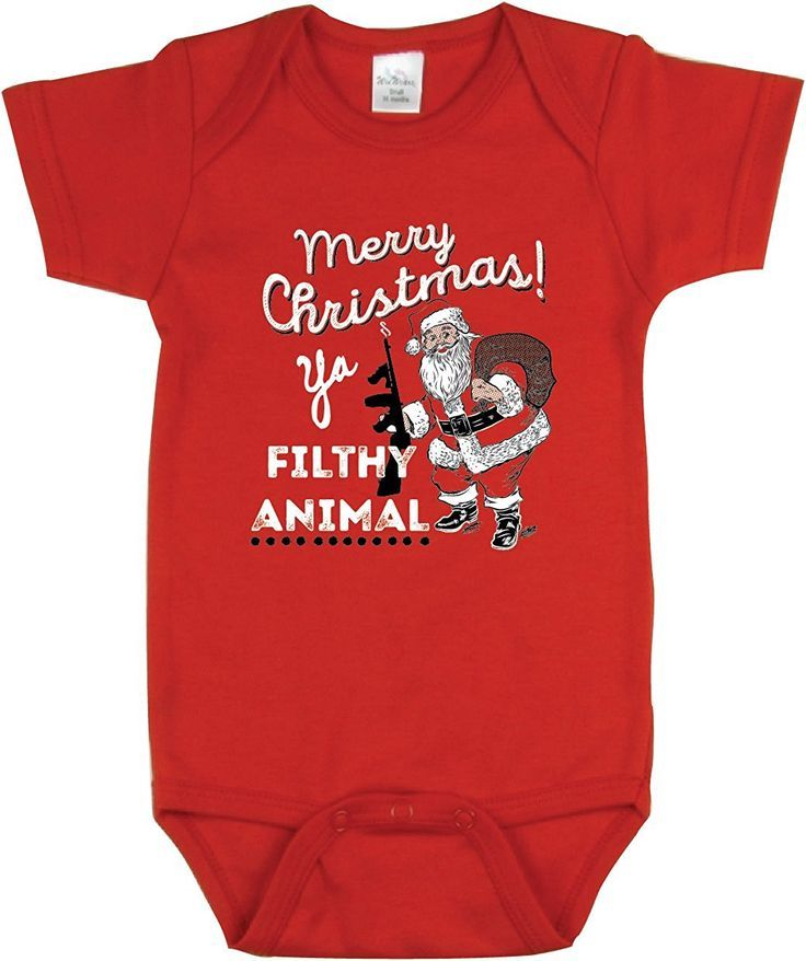 merry christmas ya filthy animal what a cute onesie perfect gift lol i