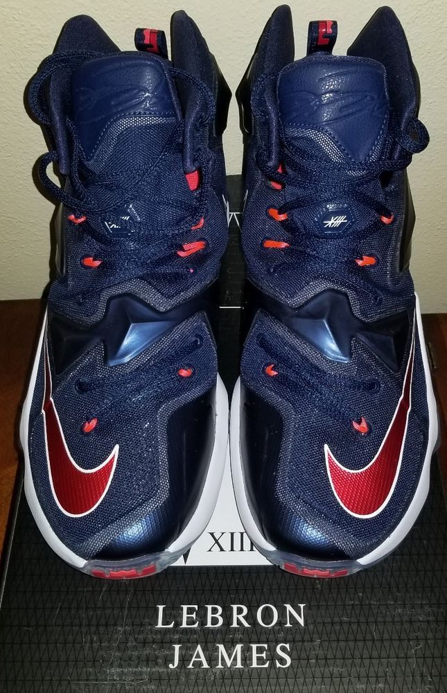 save off 40d47 ba23b NIKE Lebron XIII 13 807219-461 Mid Navy,University Red-White   More Size   10 in 2018   Athletic Shoes   Pinterest   Athletic Shoes, Shoes and Nike  lebron