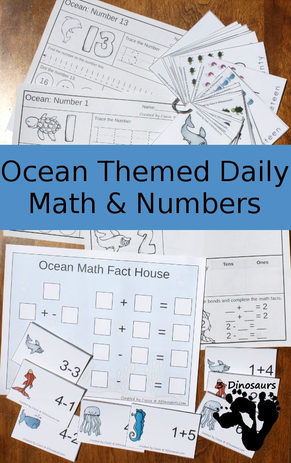 Ocean Daily Number & Math For the Summer | Math facts, Math and Number
