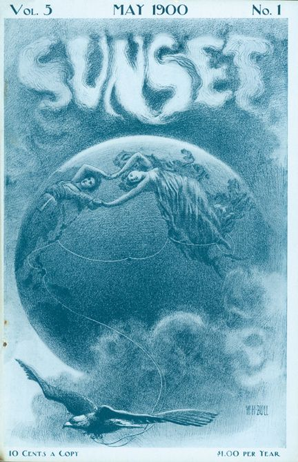 Sunset Magazine cover from 1900
