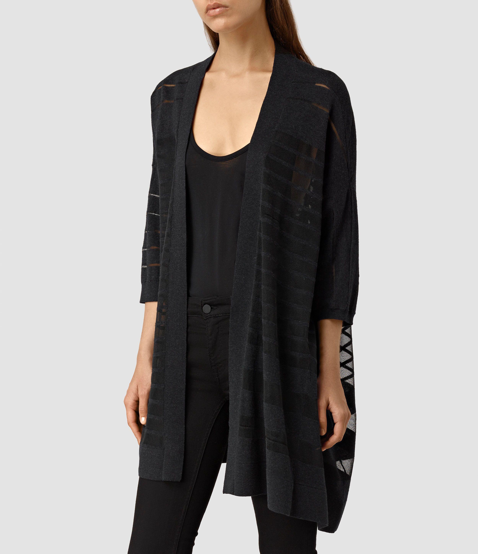 Nia Drape Sweatshirt | Womens knitwear, Cardigans and Black