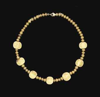 AN ELAMITE GOLD BEAD NECKLACE
