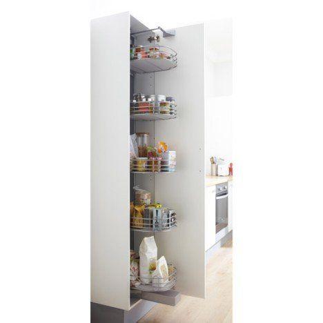 Rangement Ouvrant Colonne 5 Paniers 40cm Delinia Meuble Cuisine Amenagement Placard Ikea