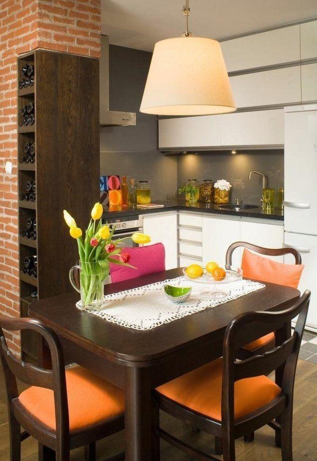 einrichtungstipps kleine küche ideen L-Form küchenzeile essbereich ...