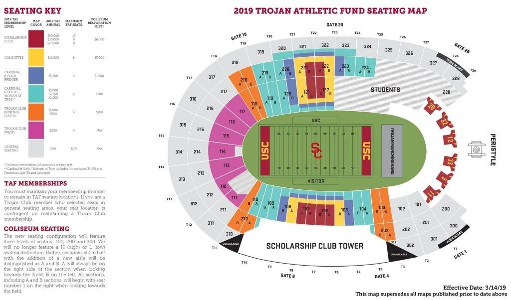 2019 Trojan Athletic Fund Seating Plan Usc Athletics Pertaining To Usc Coliseum Seating Chart Losangelescoliseumuscseatingchart Thecoliseumuscseatingchart U Di 2020