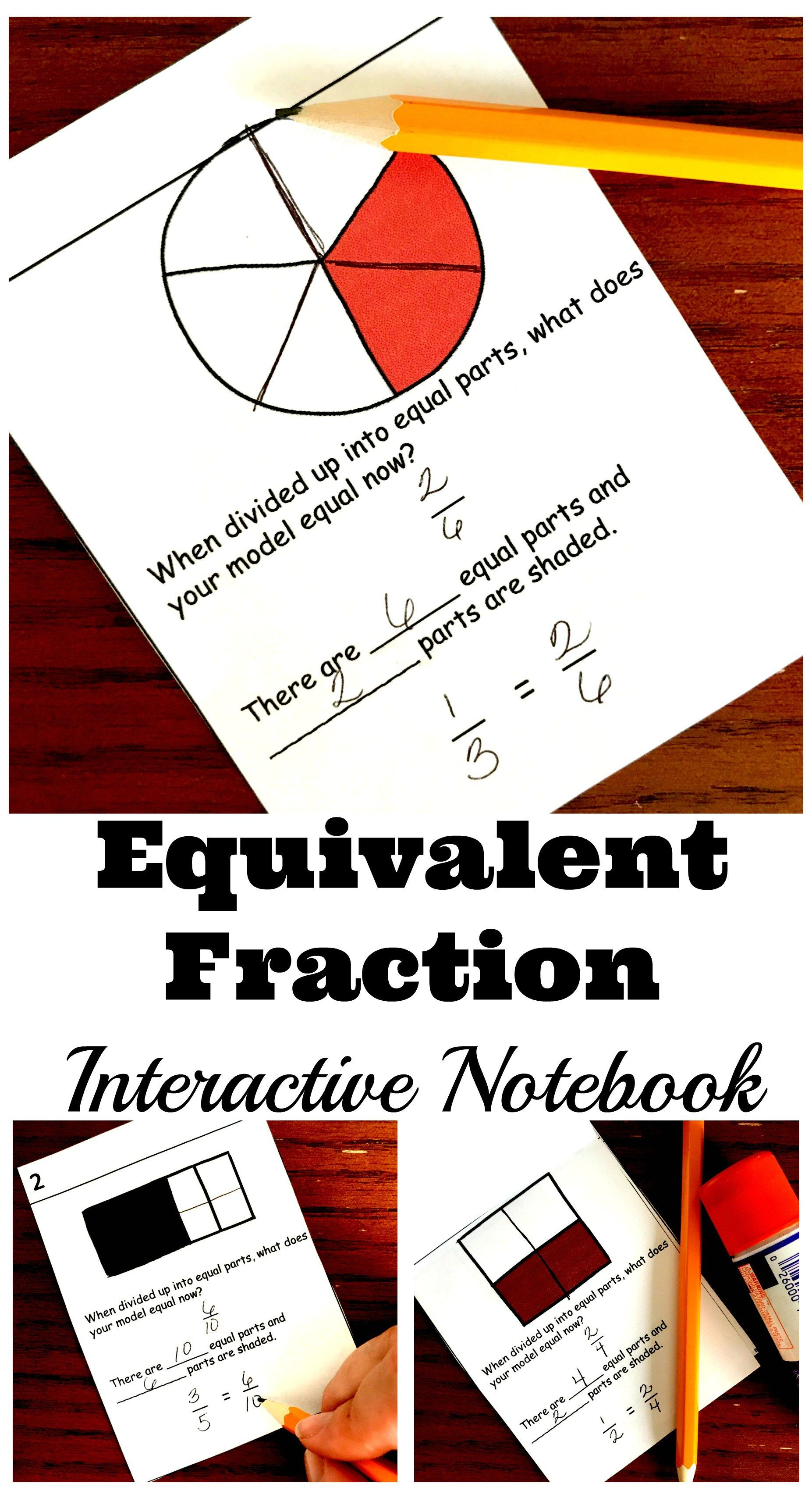 How to Teach Equivalent Fractions with an Interactive Notebook