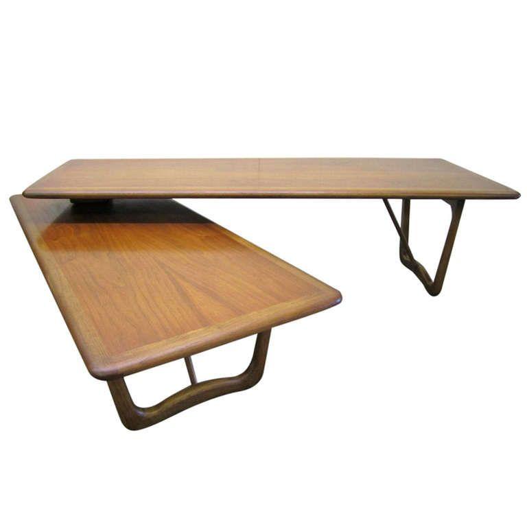 Lovely Mid century Modern Boomerang Style Walnut Lane Coffee Table