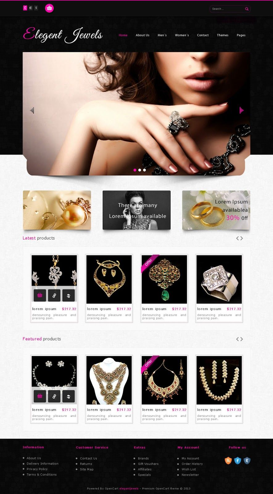 free jewellery shop psd template free psd templates pinterest