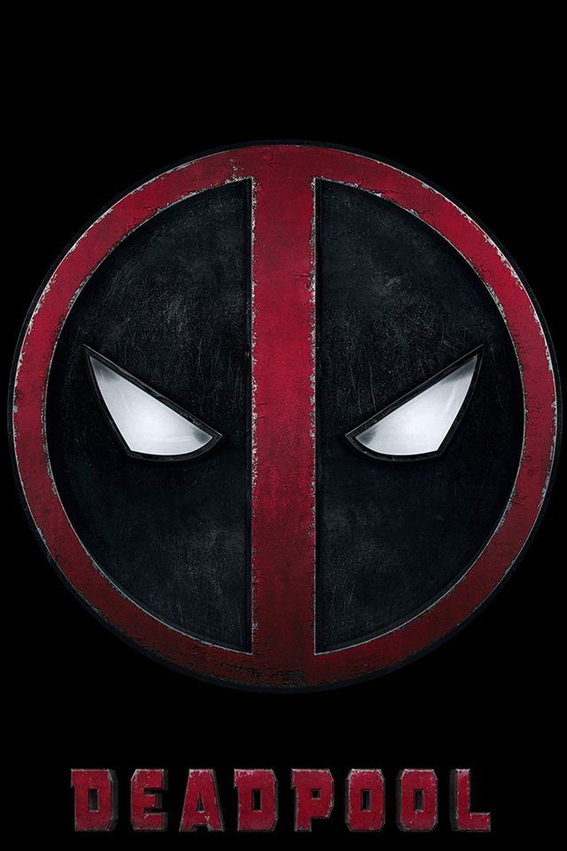 Deadpool Logo Dark Art Hero IPhone 4s Wallpaper