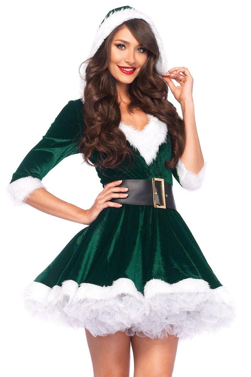 Womens Christmas Xmas Fancy Dress Costume Sizes XS S M L XL