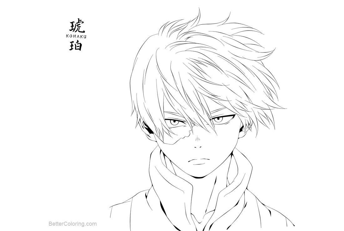 Free Boku No Hero Academia Shouto Todoroki Coloring Pages By Kohaku Art Printable For Kids And Adults Coloring Pages Anime Drawings Sketches Anime Lineart
