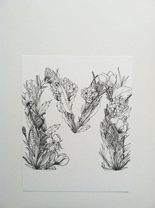 custom letter print 8x10 m by monvoir on etsy