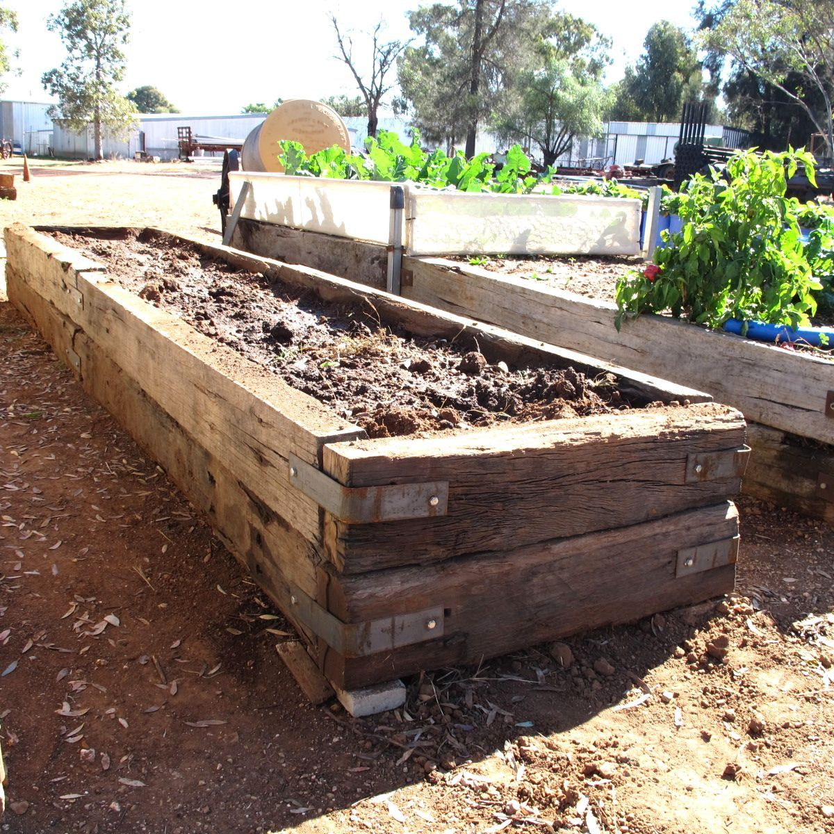 Building Raised Garden Beds With Railroad Ties In Meg39s ...
