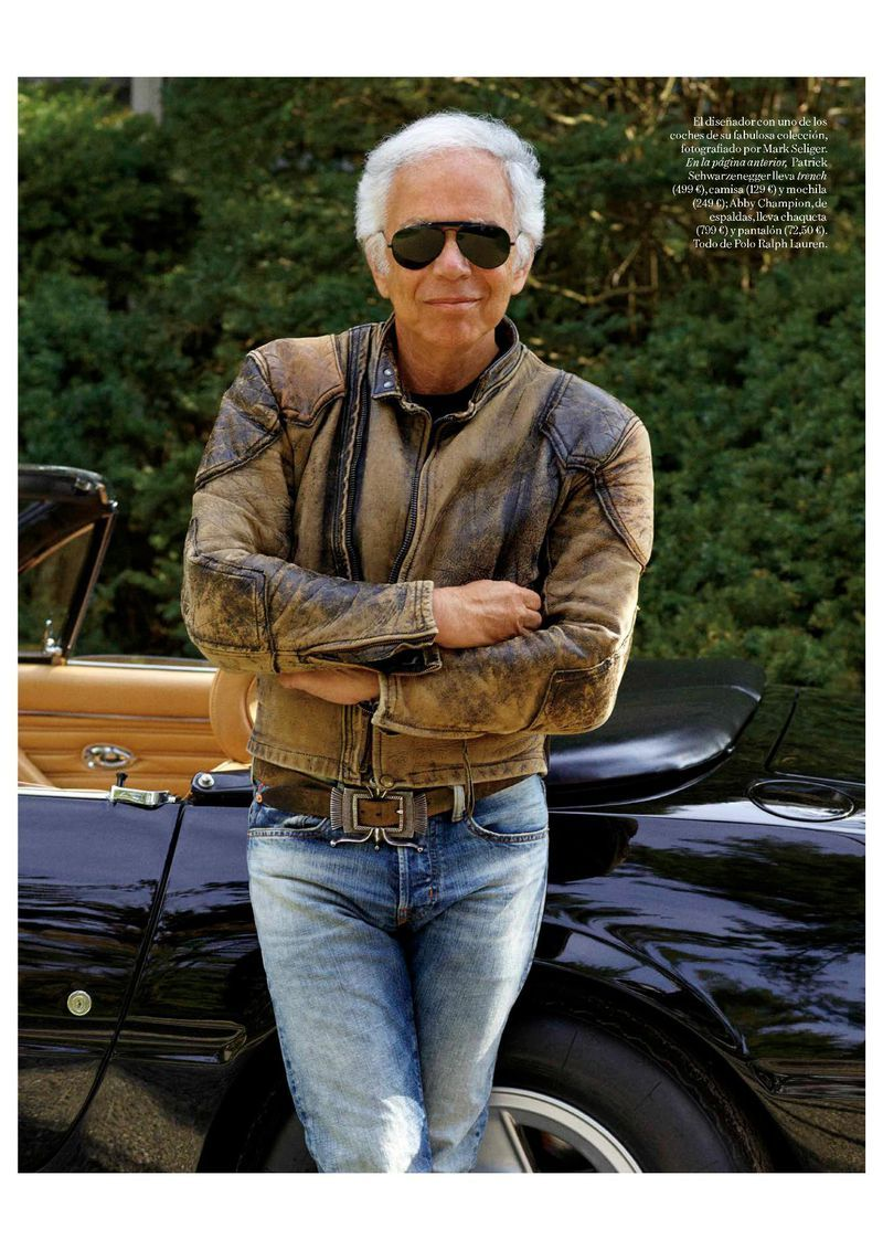 Ralph Lauren Vogue Spain 2018 Cafe Racer Jacket, Classic Outfits, Classic  Clothes, Vogue