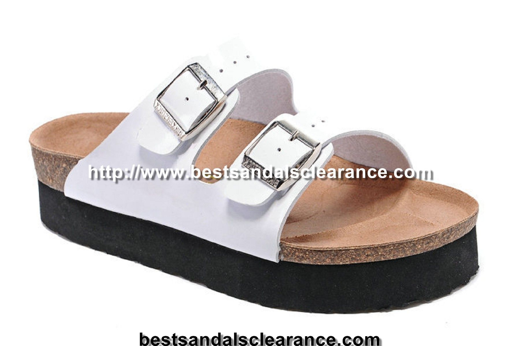 422f364366e45 Birkenstock Arizona High Heeled Mens Sandals White Outlet Store ...