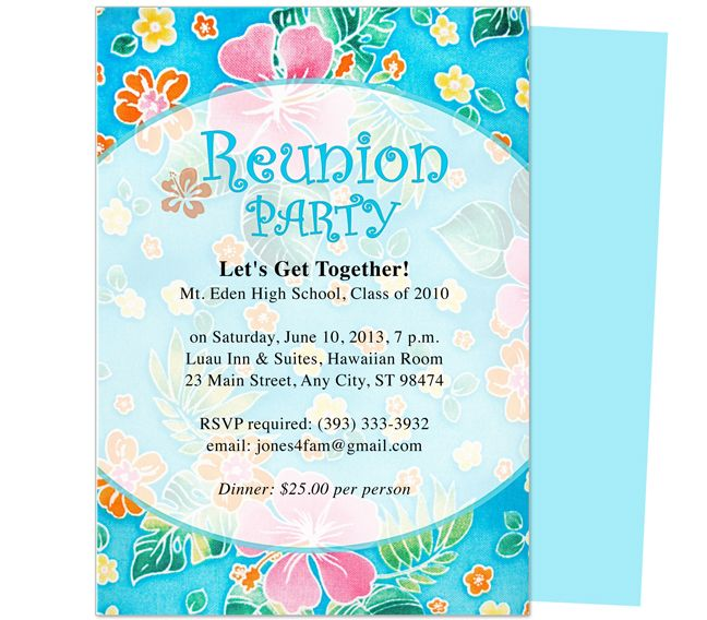 Friendship Reunion Party Invitation Templates editable in Word – Reunion Invitation Template