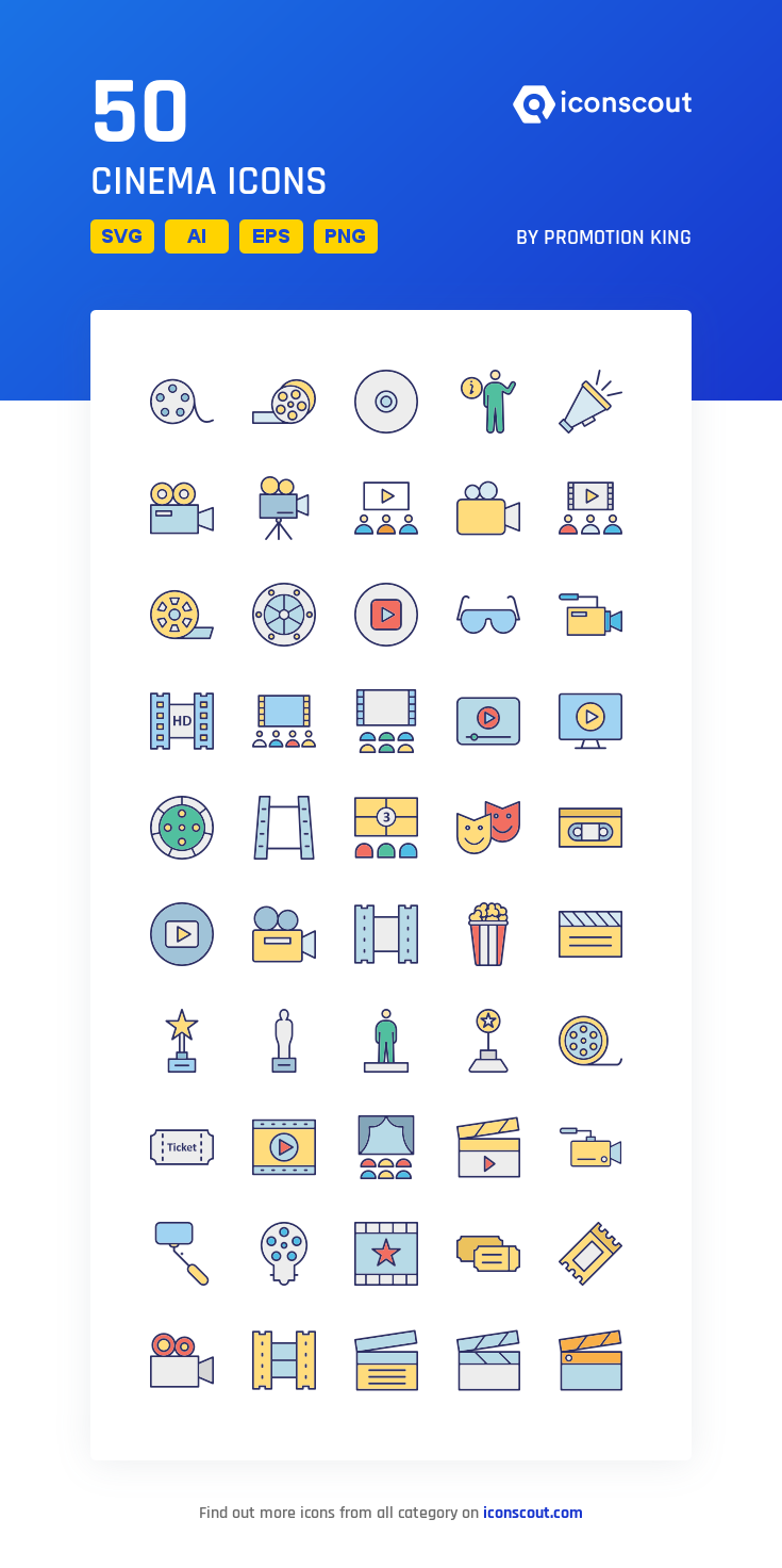 Download Download Cinema Icon pack - Available in SVG, PNG, EPS, AI ...