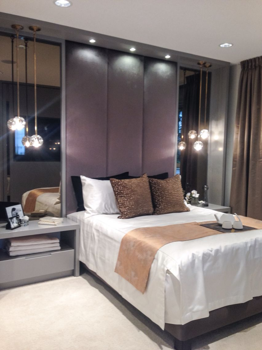 master bedroom design with pendant lights from modern restoration