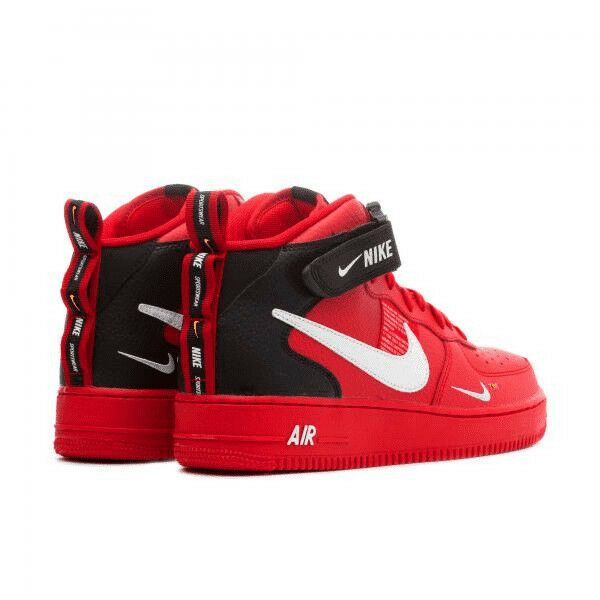 new arrivals 92aba 47bb5 Nike Air Force 1 Mid  07 LV8 Mens Sneakers University Red White Black Size  12  fashion  clothing  shoes  accessories  mensshoes  athleticshoes (ebay  link)