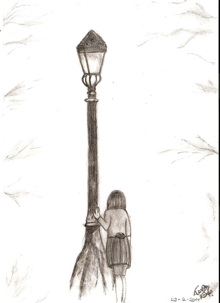 narnia lamp post art at the lamp post by tessja fan art