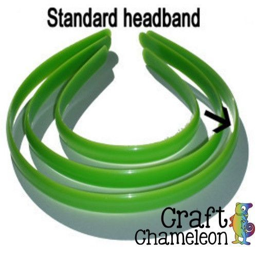 Set of 12 ~ 10mm Plastic Colored Headbands